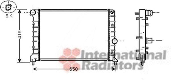 Radiateur, refroidissement du moteur - VAN WEZEL - 01002083
