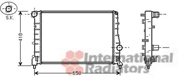 Radiateur, refroidissement du moteur - VAN WEZEL - 01002084