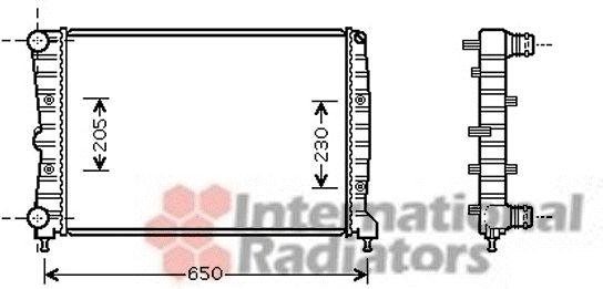 Radiateur, refroidissement du moteur - VAN WEZEL - 01002087