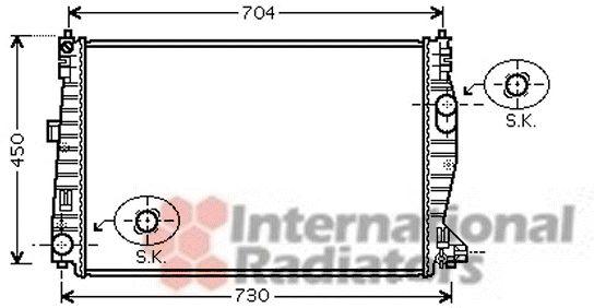 Radiateur, refroidissement du moteur - VWA - 88VWA01002101