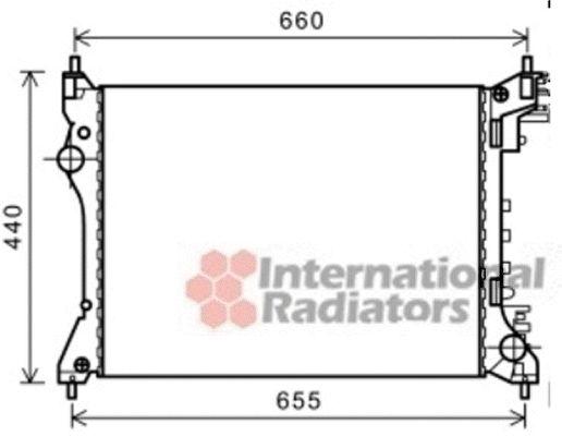 Radiateur, refroidissement du moteur - VAN WEZEL - 01002117