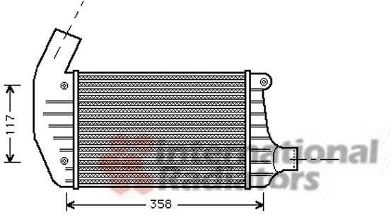 Intercooler, échangeur - VAN WEZEL - 01004067