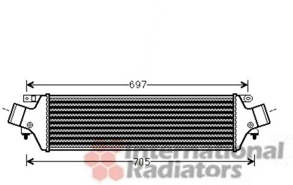 Intercooler, échangeur - VAN WEZEL - 01004118