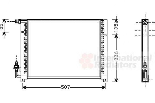 Condenseur, climatisation - VWA - 88VWA01005061