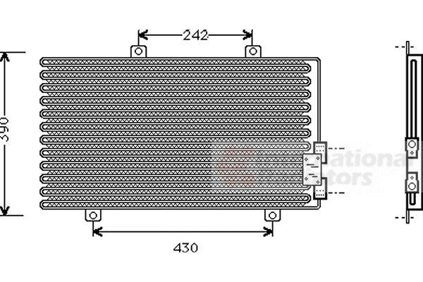 Condenseur, climatisation - VWA - 88VWA01005063