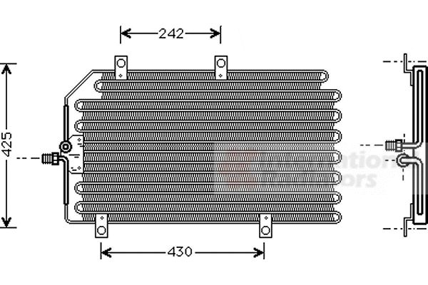 Condenseur, climatisation - VAN WEZEL - 01005065