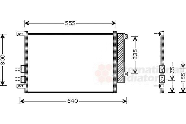 Condenseur, climatisation - VAN WEZEL - 01005088
