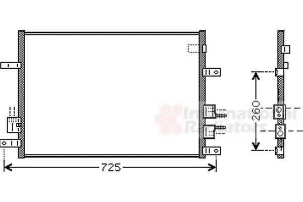 Condenseur, climatisation - VWA - 88VWA01005097