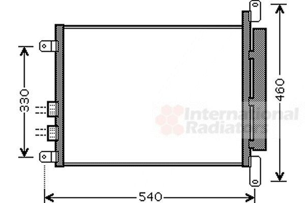 Condenseur, climatisation - VAN WEZEL - 01005110