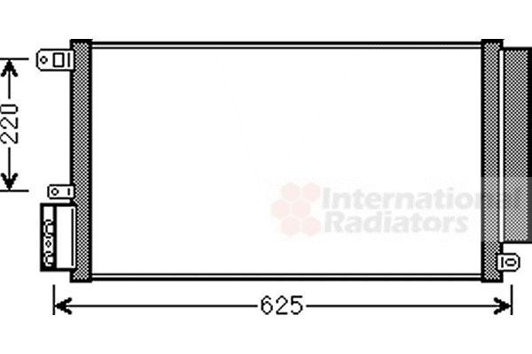 Condenseur, climatisation - VAN WEZEL - 01005115