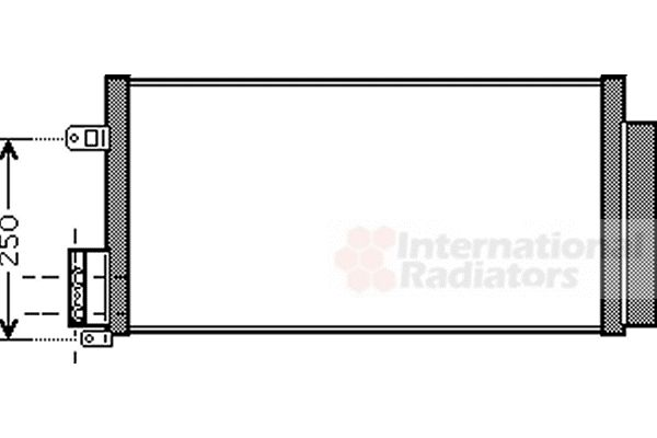 Condenseur, climatisation - VAN WEZEL - 01005116