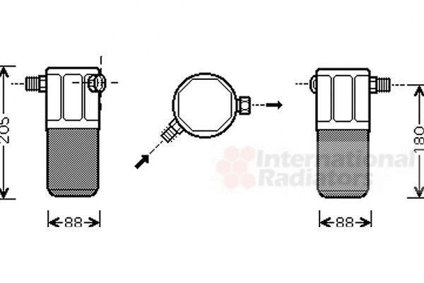 Filtre déshydratant, climatisation - VAN WEZEL - 0100D099