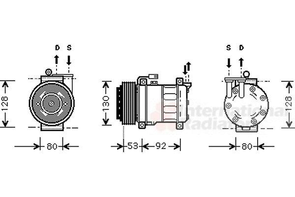 Compresseur, climatisation - VWA - 88VWA0100K009
