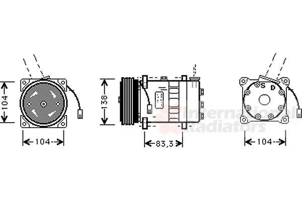 Compresseur, climatisation - VWA - 88VWA0100K014
