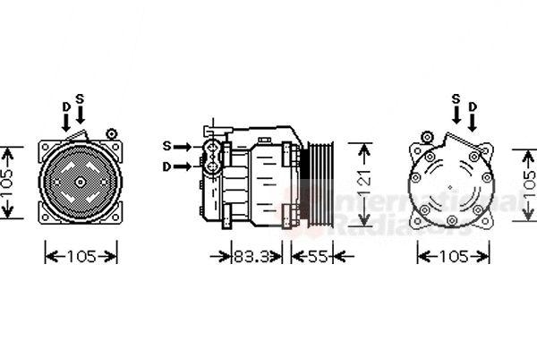 Compresseur, climatisation - VWA - 88VWA0100K090
