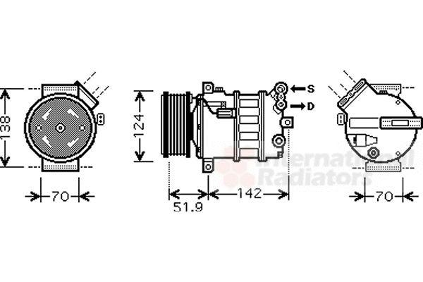 Compresseur, climatisation - VWA - 88VWA0100K112