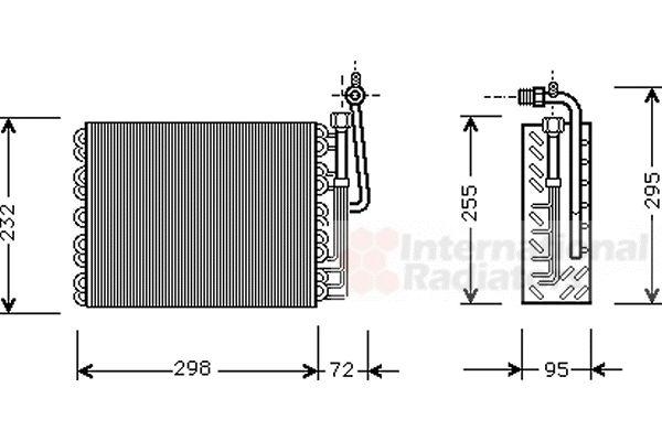 Evaporateur climatisation - VAN WEZEL - 0100V008