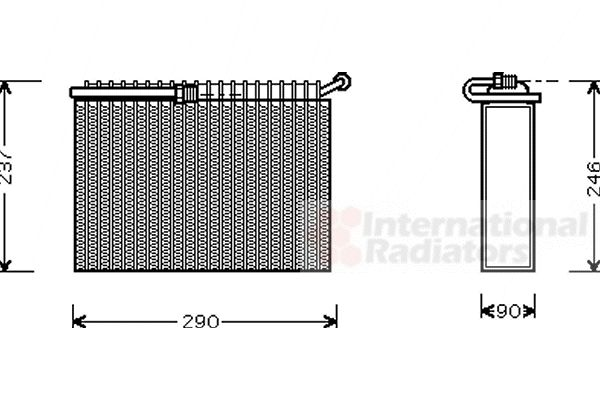 Evaporateur climatisation - VAN WEZEL - 0100V022