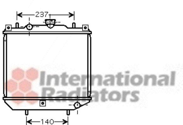 Radiateur, refroidissement du moteur - VAN WEZEL - 99002001