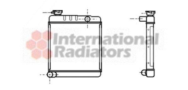Radiateur, refroidissement du moteur - VAN WEZEL - 02002001