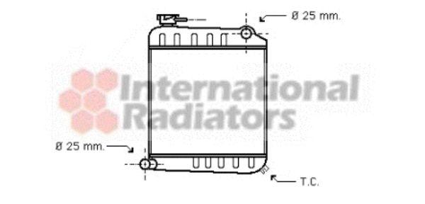 Radiateur, refroidissement du moteur - VAN WEZEL - 02002013