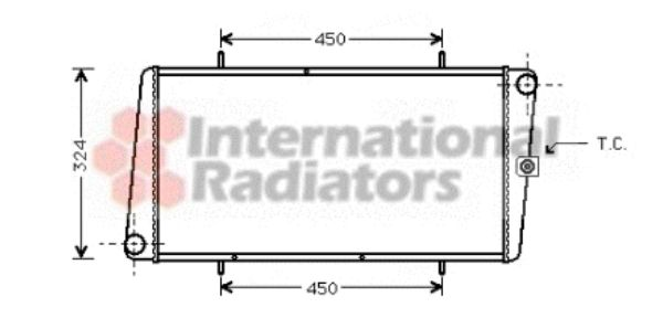 Radiateur, refroidissement du moteur - VWA - 88VWA02002025