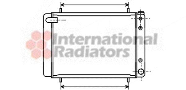 Radiateur, refroidissement du moteur - VAN WEZEL - 02002046