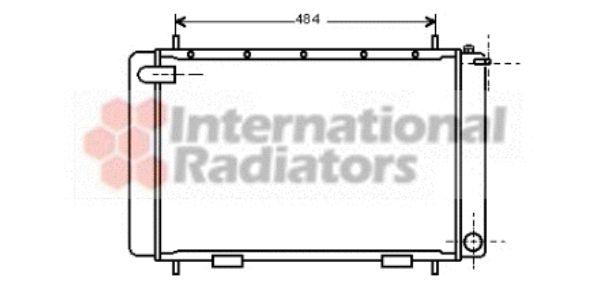 Radiateur, refroidissement du moteur - VAN WEZEL - 02002063