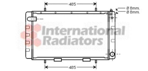 Radiateur, refroidissement du moteur - VAN WEZEL - 02002065