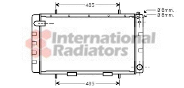 Radiateur, refroidissement du moteur - VWA - 88VWA02002065