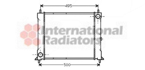 Radiateur, refroidissement du moteur - VAN WEZEL - 02002067