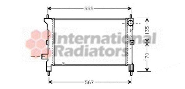 Radiateur, refroidissement du moteur - VWA - 88VWA02002080