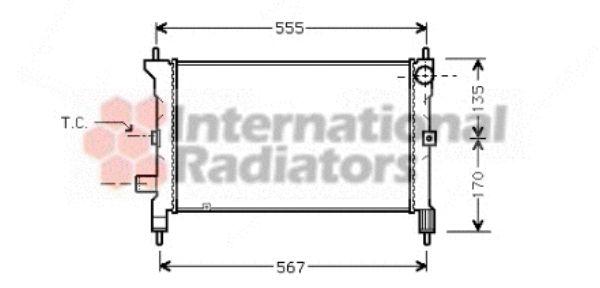 Radiateur, refroidissement du moteur - VAN WEZEL - 02002081