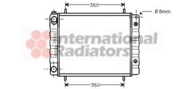 Radiateur, refroidissement du moteur - VWA - 88VWA02002082