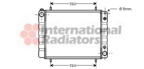 Radiateur, refroidissement du moteur - VAN WEZEL - 02002084