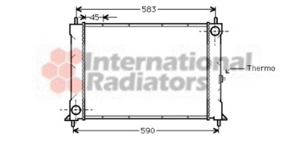 Radiateur, refroidissement du moteur - VWA - 88VWA02002094