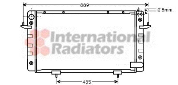 Radiateur, refroidissement du moteur - VAN WEZEL - 02002099