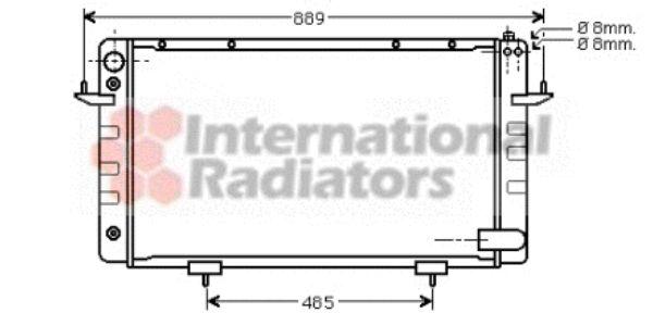 Radiateur, refroidissement du moteur - VAN WEZEL - 02002101