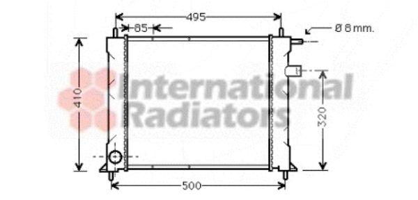 Radiateur, refroidissement du moteur - VAN WEZEL - 02002110