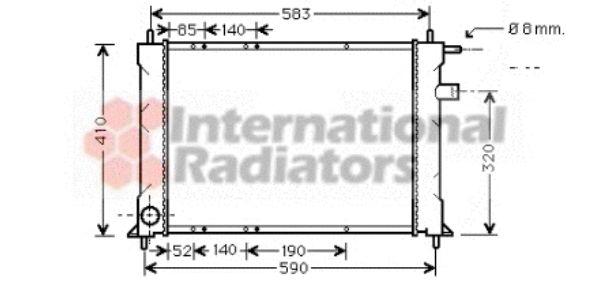 Radiateur, refroidissement du moteur - VAN WEZEL - 02002111
