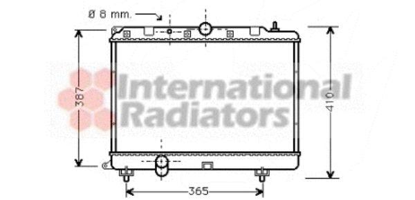 Radiateur, refroidissement du moteur - VAN WEZEL - 02002120