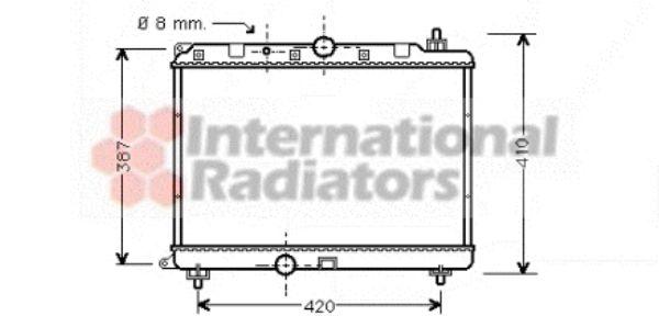 Radiateur, refroidissement du moteur - VAN WEZEL - 02002121