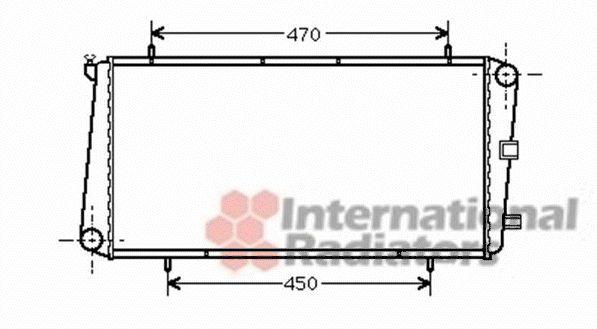 Radiateur, refroidissement du moteur - VAN WEZEL - 02002122