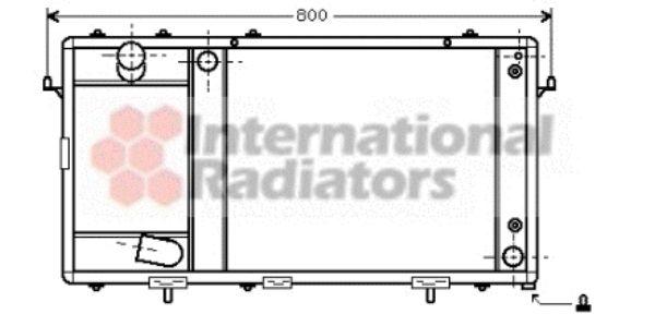 Radiateur, refroidissement du moteur - VAN WEZEL - 02002123