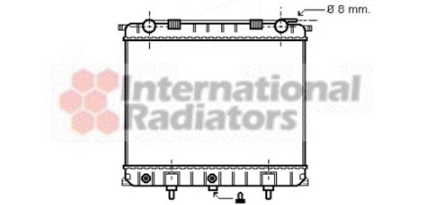 Radiateur, refroidissement du moteur - VAN WEZEL - 02002132