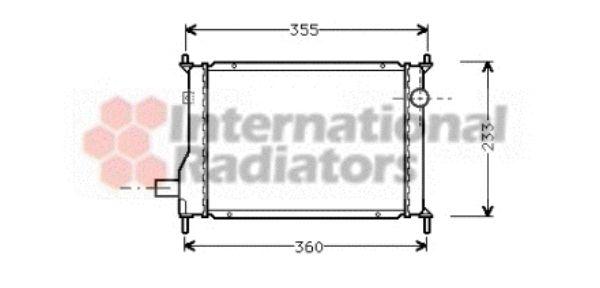 Radiateur, refroidissement du moteur - VWA - 88VWA02002133