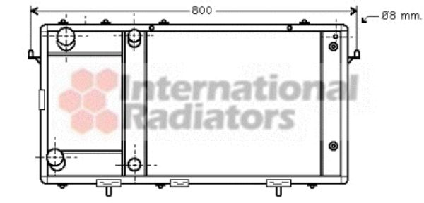 Radiateur, refroidissement du moteur - VWA - 88VWA02002137
