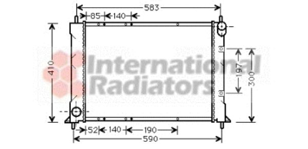 Radiateur, refroidissement du moteur - VAN WEZEL - 02002149