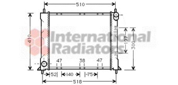 Radiateur, refroidissement du moteur - VAN WEZEL - 02002150