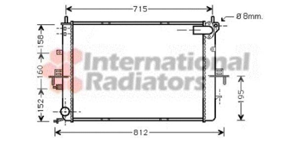 Radiateur, refroidissement du moteur - VAN WEZEL - 02002152